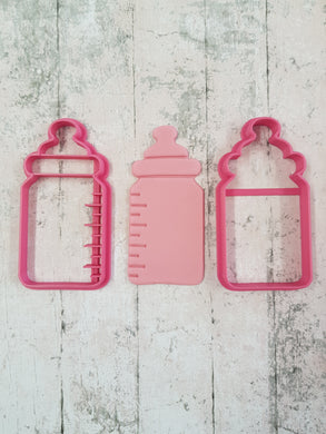 Baby bottle and imprint cutter