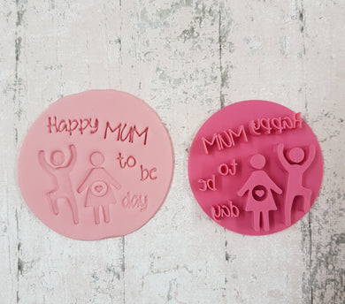 'Happy mum to be day' stamp