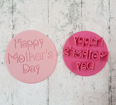 'Happy Mothers Day' with hearts stamp