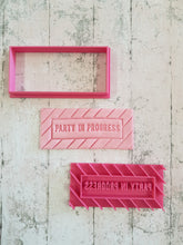 """Party in Progress"" Stamp Imprint and Cutter"