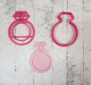 Engagement ring cutter and imprint set