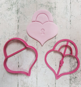 Heart Padlock  cutter and imprint