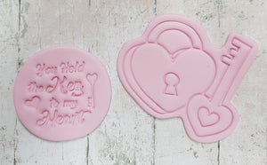 """You hold the key to my heart"" stamp"