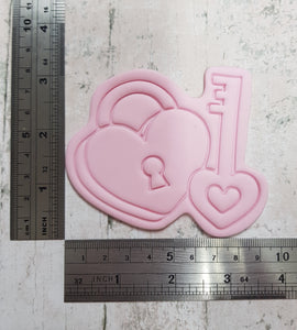 Heart lock and key cutter and imprint