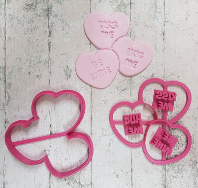Triple mini hearts  cutter and imprint