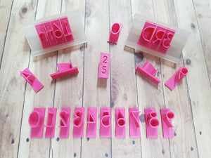 Numbers Set Font 2 Size 2