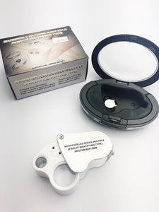 LED Magnifier Glass Double-Multiple Jewelry Identifying Type