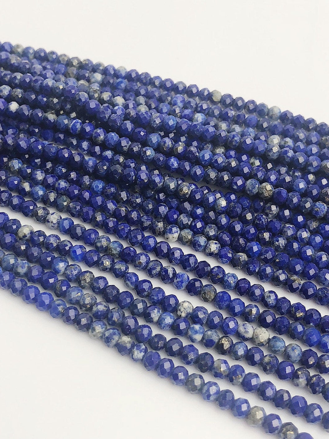 HALF OFF SALE - Blue Lapis Gemstone Beads, Full Strand, Semi Precious Gemstone, 15