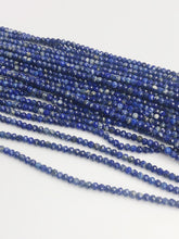 HALF OFF SALE - Blue Lapis Gemstone Beads, Full Strand, Semi Precious Gemstone, 15""