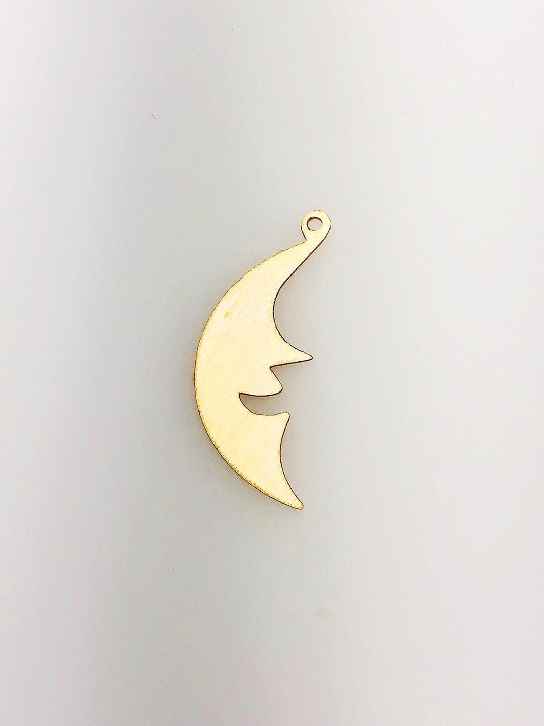 14K Gold Fill Moon Charm w/ Ring, 9.6x25.4mm, Made in USA - 367