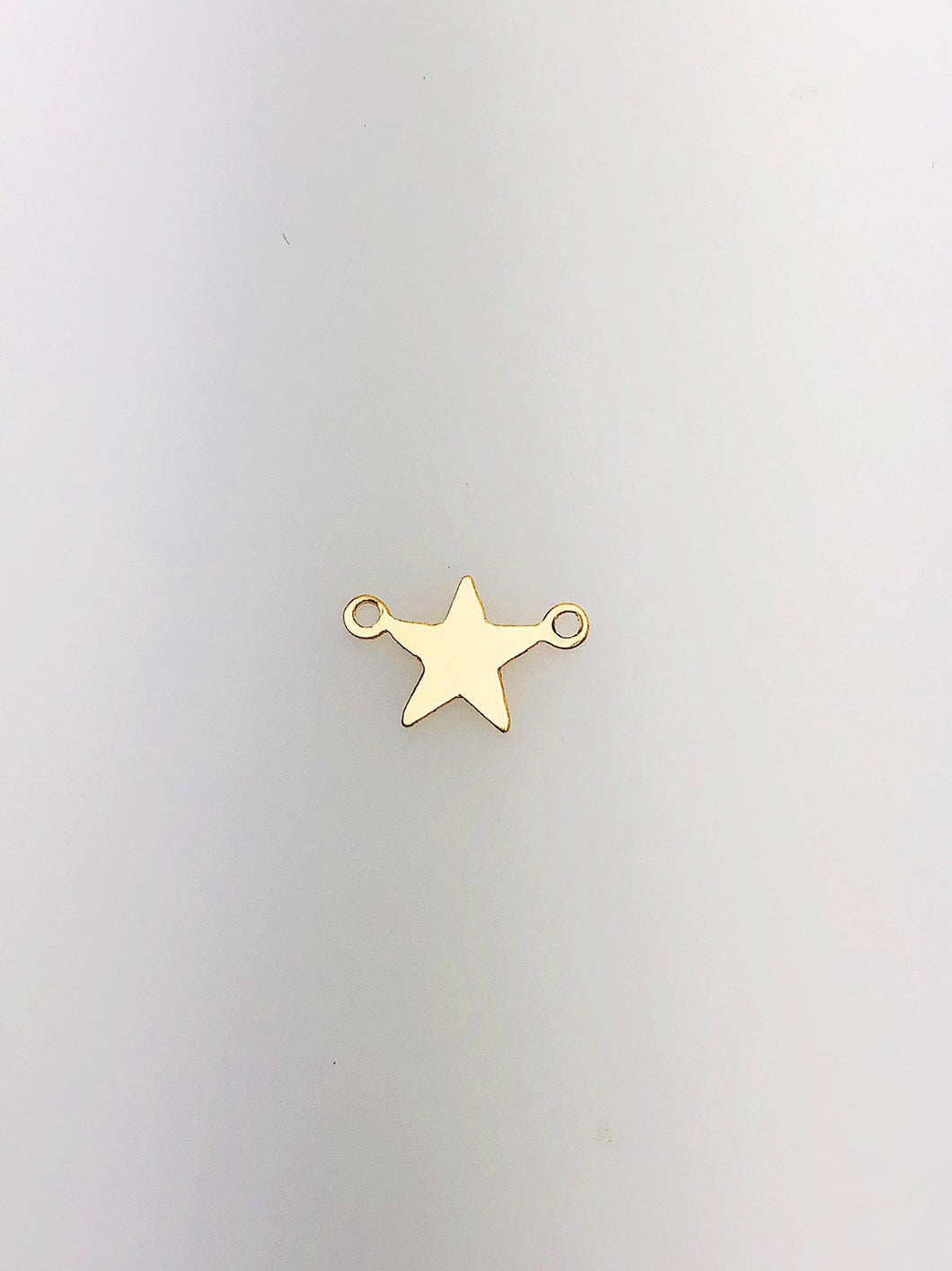 14K Gold Fill Star Charm w/ two Rings, 11.4x7.4mm, Made in USA - 111