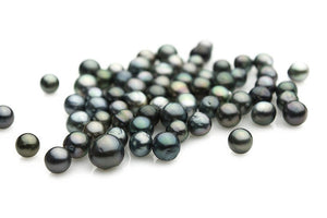 Oval Mid-dark Tahitian Loose pearls 8-9mm (Lot #102)