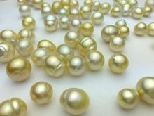 South Sea Loose Pearls, Natural Color, AA Quality, 9mm to 13mm, #435
