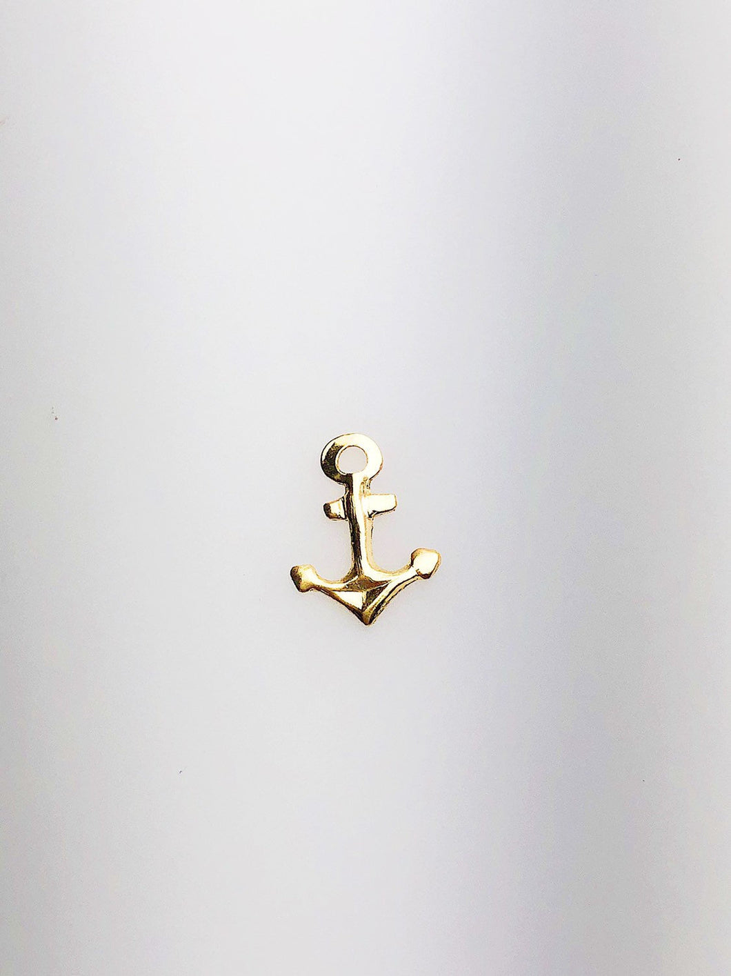 14K Gold Fill Anchor Charm w/ Ring, 8.0x10.3mm, Made in USA - 511
