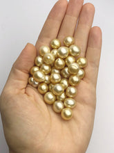 Golden South Sea Loose Pearls, Ovals - Drops, 10mm - 12mm, AA Quality