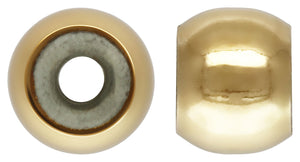 4.0mm Smart Bead 3.0mm Hole 2.0mm Fit, 14k gold filled. Made in USA. #4004840I2