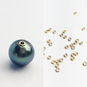 14K Gold Fill 3.0mm Bead Grommet with 2.7mm Hole