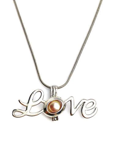 Love Cage Pendant Sterling Silver for 5mm to 7.5mm Loose Pearl (CP99)