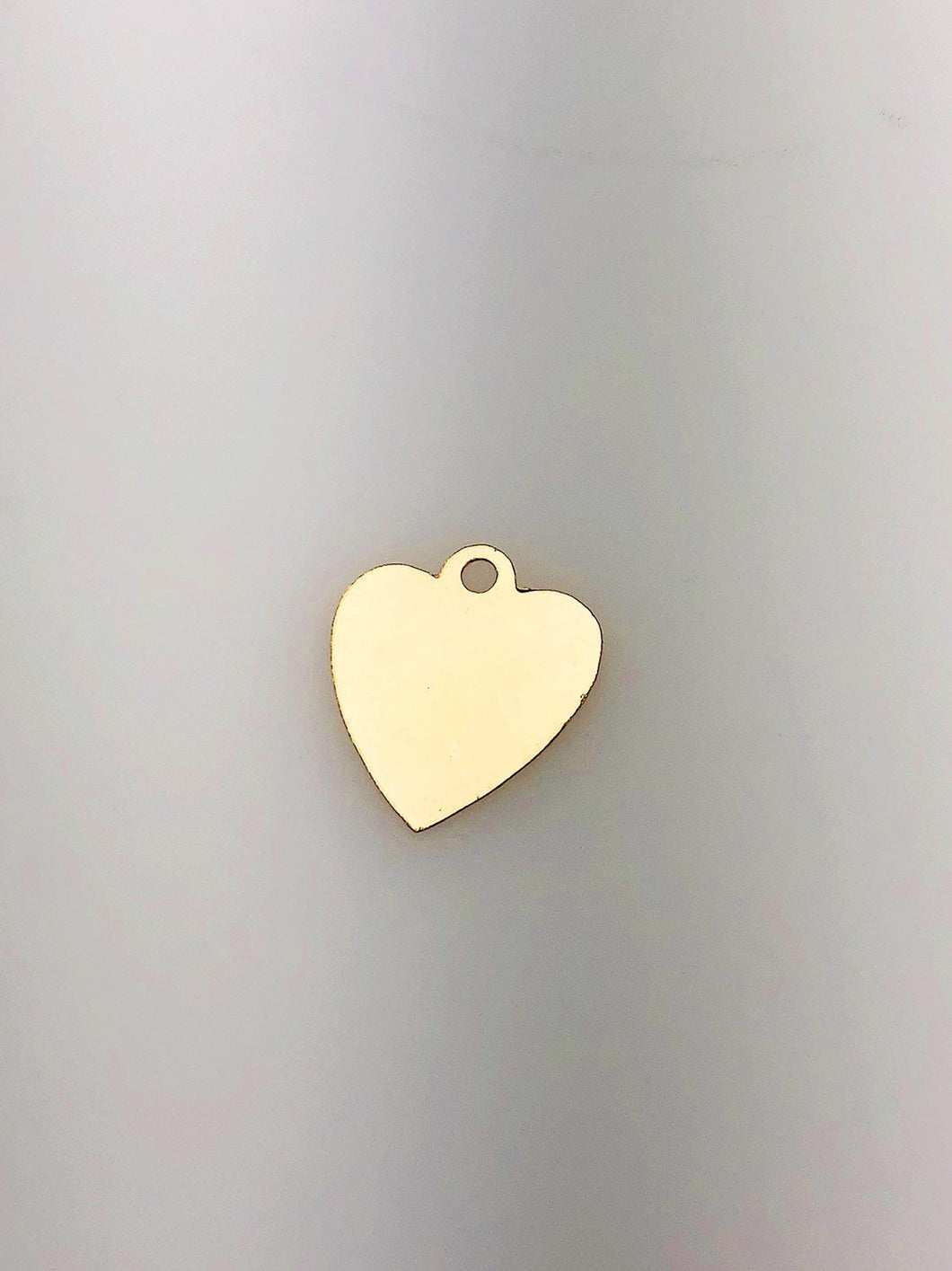14K Gold Fill Heart Tag Charm w/ Ring, 13.4mm, Made in USA - 825