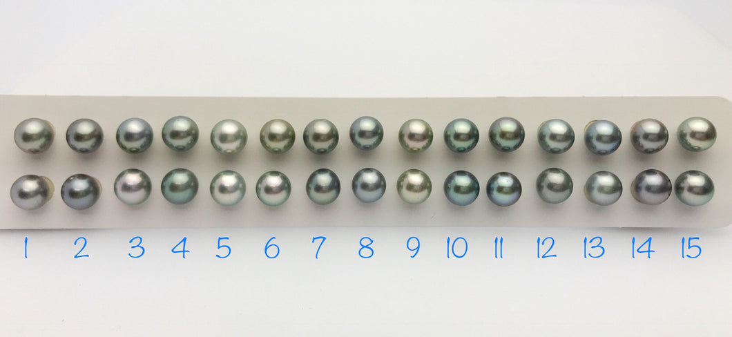Tahitian AA Pearl Loose Matched Pairs 9mm to 9.5mm (183)