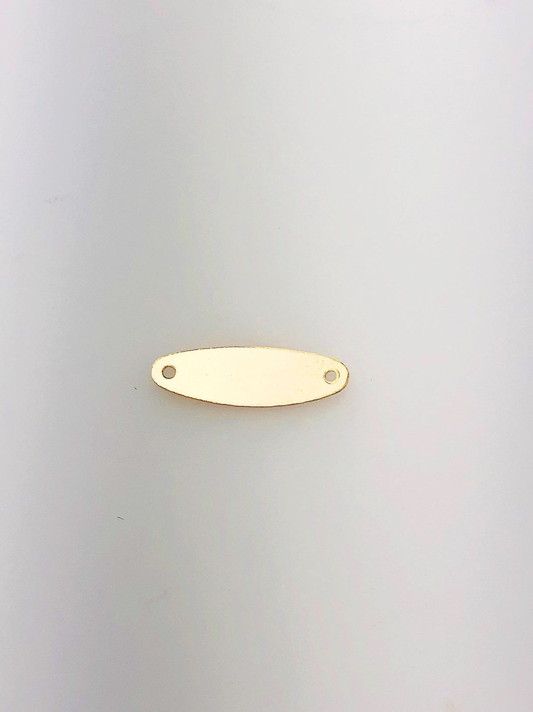 14K Gold Fill Rounded Tag Charm w/ Two Holes, 6.0x19.1mm, Made in USA - 2451 0	0	$0