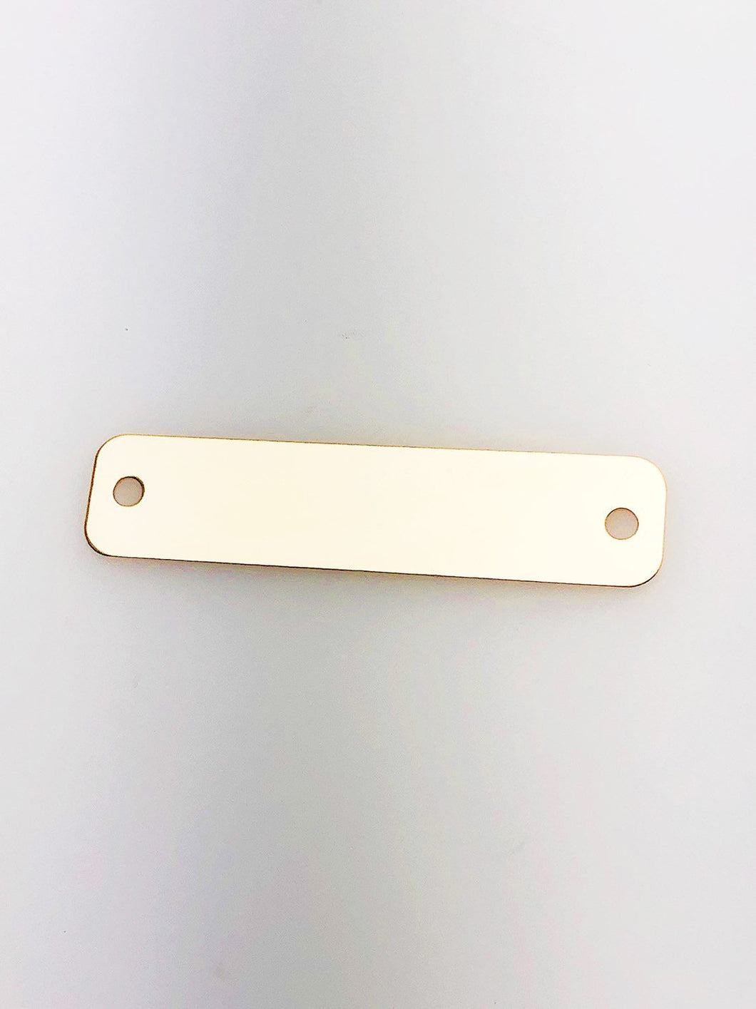 14K Gold Fill Bar Tag Charm w/ Two Holes, 44.0x10.1mm, Made in USA - 2513
