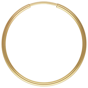 1.25x24mm Endless Hoop, 14k gold filled. Made in USA. #4011724