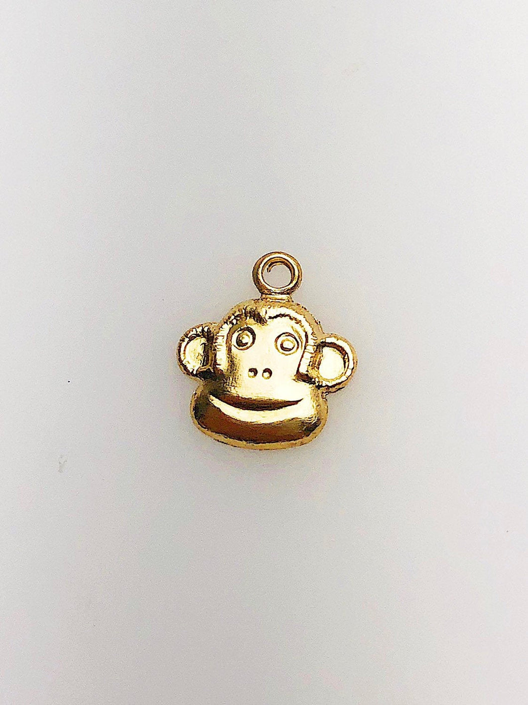 14K Gold Fill Monkey Charm w/ Ring, 9.0mm, Made in USA - 2344