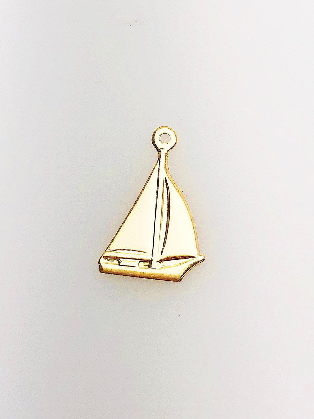 14K Gold Fill Sailboat Charm w/ Ring, 10.0mm, Made in USA - 639