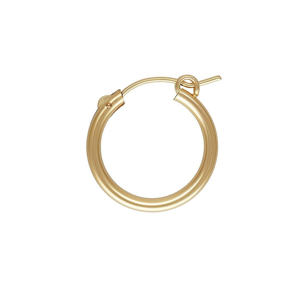 2.3x19.0mm Eurowire Hoop, 14k gold filled. Made in USA. #4011519