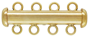 4.3x26.0mm Tube Clasp 4 Row, 14K Gold Filled, Made in USA. #40035804R