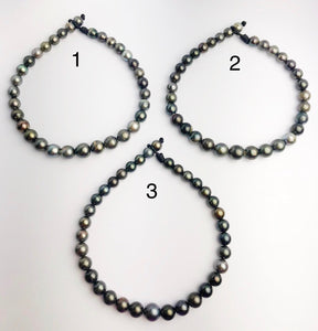 BIG 16mm Tahitian Pearl Necklace on Leather Cord, 12 - 16mm (285)