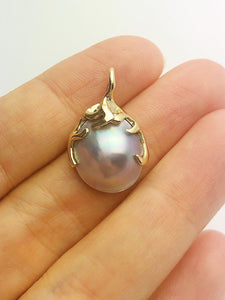 30% OFF - 14K Gold Sea of Cortez Mabe Pearl Pendant, Made in Hawaii (#805)