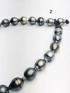 Big 15mm Tahitian Pearl Necklace on Leather Cord, 12 - 15mm (284)