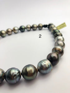 EXTRA BIG 17mm Tahitian Pearl Necklace on Leather 15 - 17mm (282)