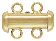 4.3x15.0mm Tube Clasp 2 Row, 14K Gold Filled, Made in USA. #40035802R
