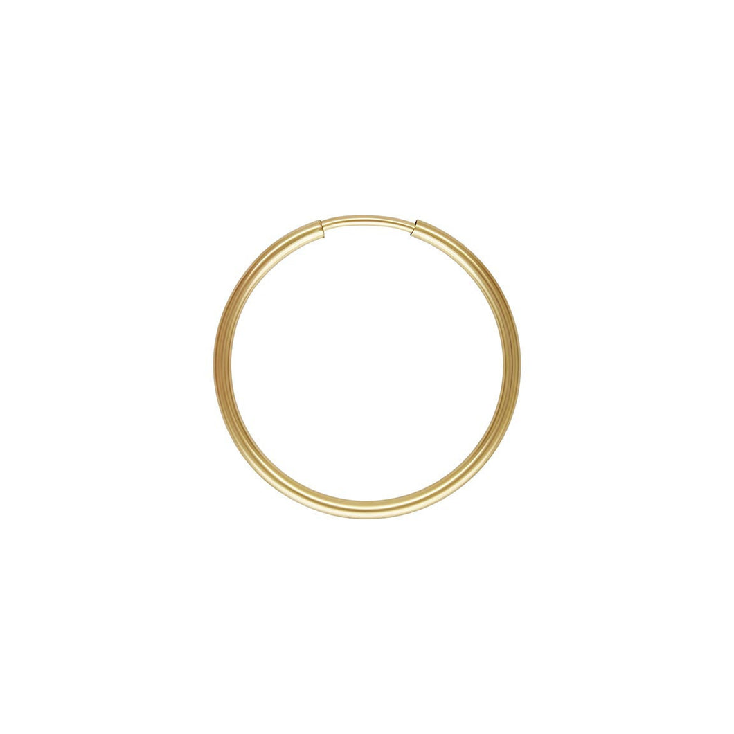 1.25x20mm Endless Hoop, 14k gold filled. Made in USA. #4011720