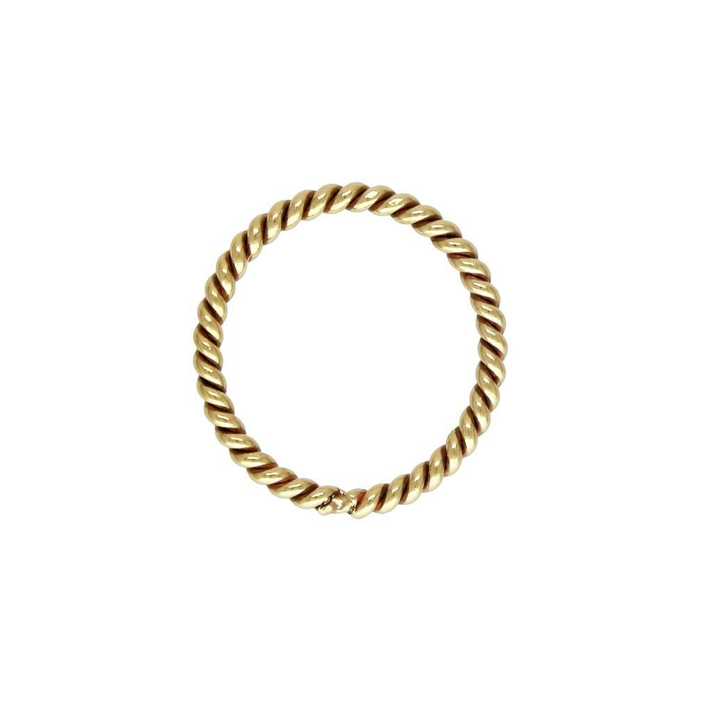 Twisted Jump Ring 20.5ga 0.76x.8.0mm, 14k gold filled. Made in USA. #4004487CT