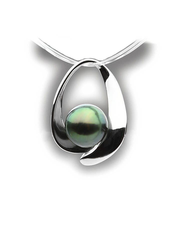 Sterling Silver Pendant Pearl Setting SP47 Setting Only. No Pearl Included.