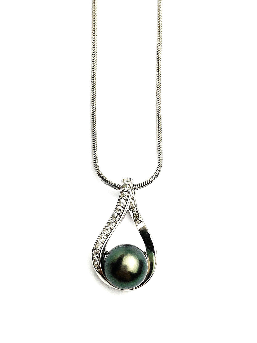 Sterling Silver Pearl Pendant Setting - SP63. Setting only. No pearl included.