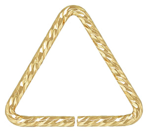 Triangle Sparkle Jump Ring 0.89x10mm, 14k gold filled. Made in USA. #4004420TRP1