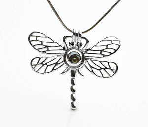 Cage Pendant for 5mm to 7.5mm Loose Pearl Dragonfly (CP68)
