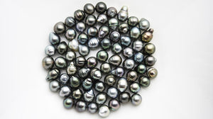 10 pcs - Tahitian Medium- Dark Colored Pearls, size 9 mm (RF 016)