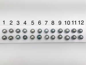 10-10.5mm Tahitian AAA Loose Matched Pearls, 10mm Round (202)