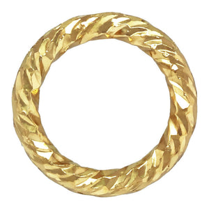 "Sparkle Jump Ring .030x.200"" (0.76x5.0mm), 14k gold filled. Made in USA. #4004472P1C"
