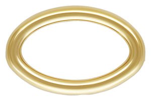 Closed Oval Jump Ring 22ga 0.64x3.5x5.3mm GP, 14k gold filled. Made in USA. #4004435OVC