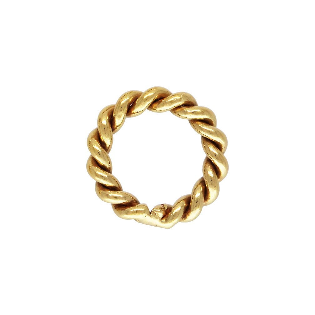 Twisted Jump Ring 20.5ga 0.76x.4.0mm, 14k gold filled. Made in USA. #4004460CT