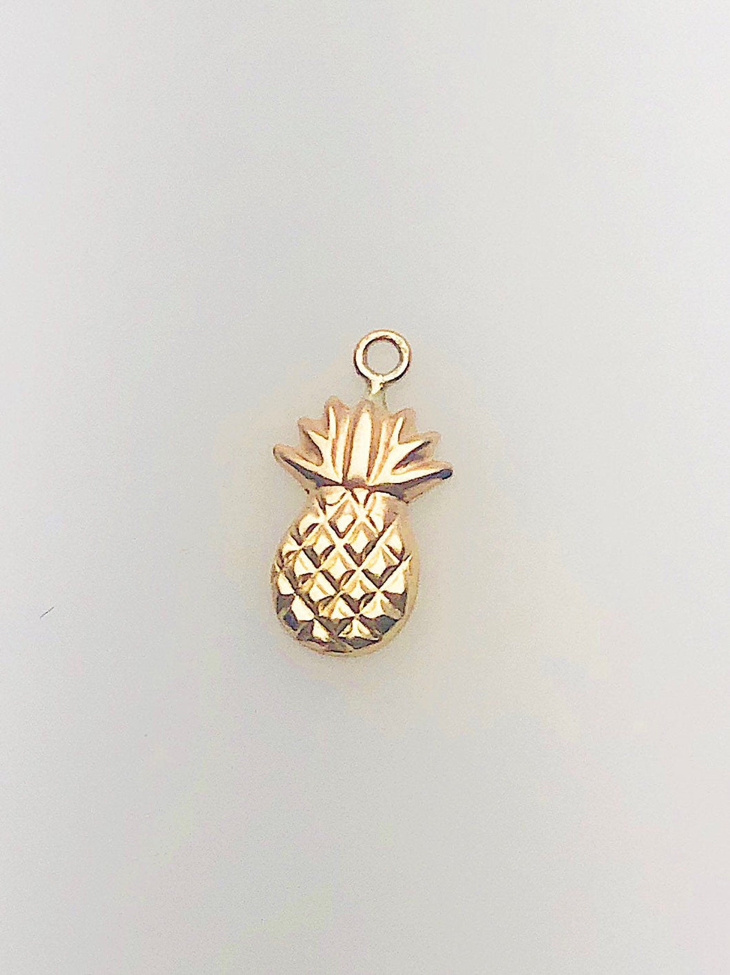 14K Gold Fill Pineapple Charm w/ Ring, 7.0x12.7mm, Made in USA - 1161 J/R