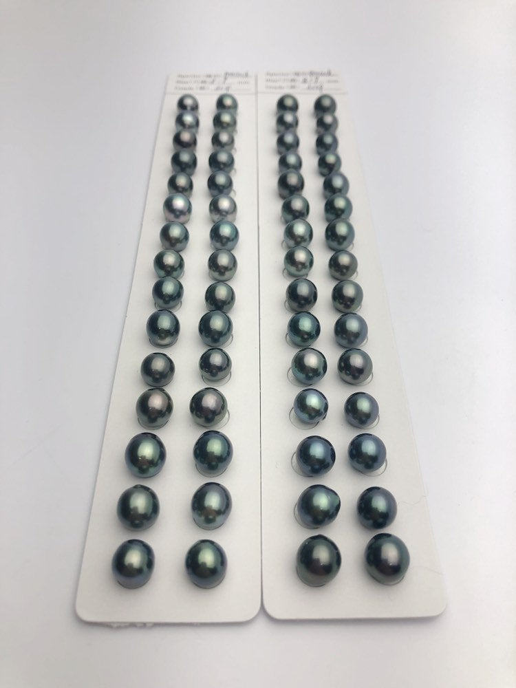 Tahitian AAA Pearl Loose Matched Pairs 8-9mm (872)