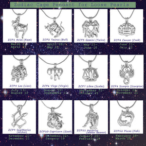 Zodiac Cage Pendants for Loose Pearls